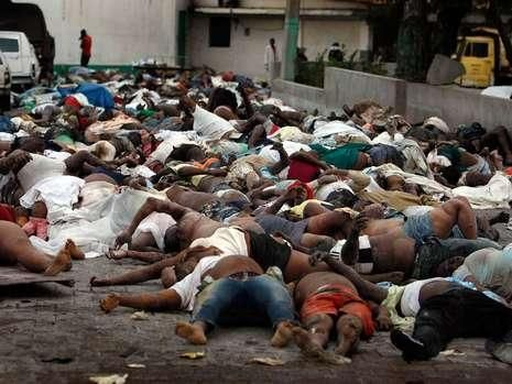 Dead bodies haiti